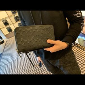 Coach Double Zip Travel Organizer wallet